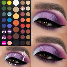 🔮🔮🔮 mit den Morphe Brushes x James McBain-Palette … - Makeup Tutorial James Charles Purple Makeup, Green Makeup, Colorful Eye Makeup, Colorful Eyeshadow, Pastel Eyeshadow, Makeup Eye Looks, Eye Makeup Steps, Makeup Tips, 80s Makeup
