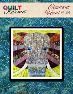 Quilt Pattern  Elephant Head Applique  Quilt Karma by QuiltKarma