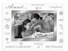 Malden Clear Expressions AUNT etched glass keepsake - 4x6: Birthday gift