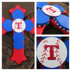 Decorative Cross, Texas Ranger T. $34.00, via Etsy.
