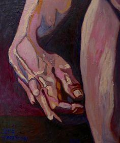 Dotyk 'Touch'  Original oil painting glaze by PaintingThomasMrozow