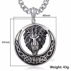 Buy Davieslee Men's Jewelry Lion Head Knot Gold/Silver Stainless Steel Pendant Necklace Chain at Wish - Shopping Made Fun Lion Necklace, Pendant Necklace, Necklace Chain, Necklaces, Jewelry Shop, Gold Jewelry, Gold Chains For Men, Stainless Steel, Silver
