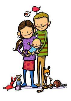 Joan Turu Baby Family, Family Love, Turu, Lovey Dovey, Pop Art, Daddy, Character Design, Drawings, Illustration