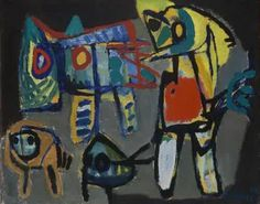 "Karel Appel 1921-2006, Netherlands artist, part of the Cobra group. Quote, ""I don't paint, I hit""."