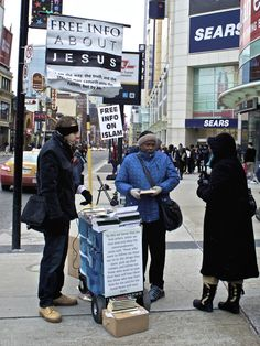 In the middle of the Toronto's downtown, in the commercial hustle and bustle, everyone is trying to sell you something!