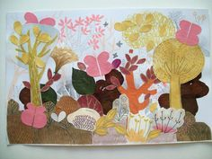 Santiago Régis  #illustration #collage #garden