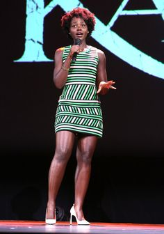 Lupita Nyong'o attends 'Worlds, Galaxies, And Universes: Live Action At The Walt Disney Studios Presentation At Disney's D23 EXPO 2015 - Zimbio