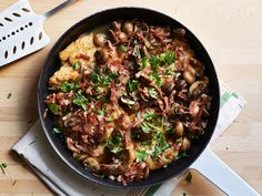 Chicken Marsala recipe from Tyler Florence via Food Network.  I made it with bacon instead of prosciutto, very good!