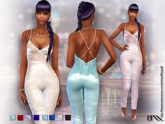 Silk jumpsuit for your ladies  Found in TSR Category 'Sims 4 Female Formal'
