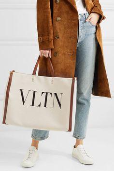 2951201b758 Valentino - Valentino Garavani Plage large leather-trimmed printed canvas  tote