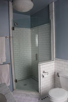 After: Shower, view from corner of sinks