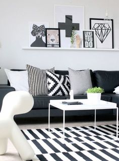 Graphic patterns in the Scandinavian living style