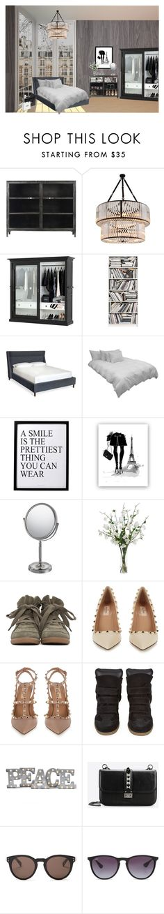 """""""Room inspiration"""" by liva-haarup ❤ liked on Polyvore featuring Eichholtz, Brewster Home Fashions, Hush, Down etc, 3R Studios, Mirror Image Home, Diane James, Isabel Marant, Valentino and Grandin Road"""