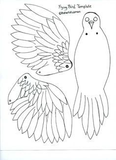 flying bird template printable - 1000 images about articulated paper dolls set 2 on