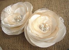 Hey, I found this really awesome Etsy listing at https://www.etsy.com/listing/177024588/ivory-champagne-wedding-hairpiece-set-of