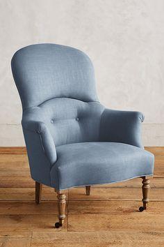 Slide View: 1: Linen Parker Armchair