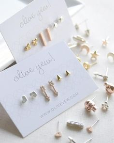 Need a perfect Christmas gift for under $10? Our set of three pairs of stud earrings in various finishes is the perfect gift for her. We'll even pick them out for you! By Olive Yew.