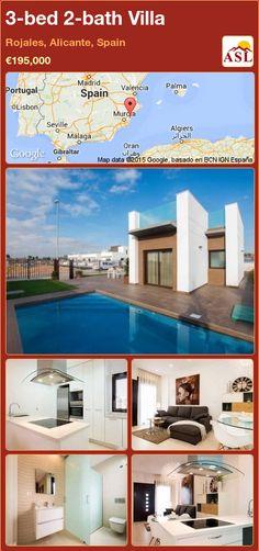 3-bed 2-bath Villa in Rojales, Alicante, Spain ►€195,000 #PropertyForSaleInSpain