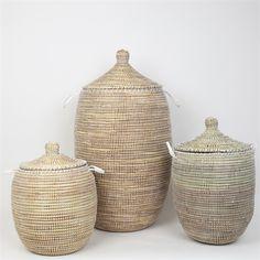 SENE Tvättkorg S, vit African Design, Artisanal, Wicker Baskets, Uppsala, Suitcases, Home Decor, Style, Bedroom, Decoration