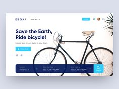 Eboki - Rent bicycle web UI designed by vijay verma. Connect with them on Dribbble; the global community for designers and creative professionals. Website Design Layout, Homepage Design, Web Ui Design, Website Designs, Flat Design, Layout Design, Design Design, Design Ideas, Graphic Design