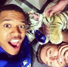 Blue jays && Animals : Marcus Stroman and Kevin Pillar (From Marcus'… Blue Jay Way, Go Blue, Kevin Pillar, Marcus Stroman, Toronto Blue Jays, Baseball Players, Softball, Athletes, Mlb