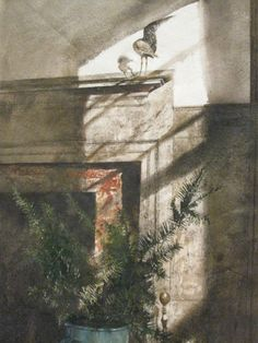 Bird in the House - Andrew Wyeth 1979 Private Collection