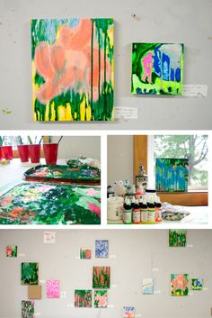 Painter Manon Labrosse explores what she loves and fears about nature during her artist residency at Spark Box Studio.   #painting #landscape #abstraction