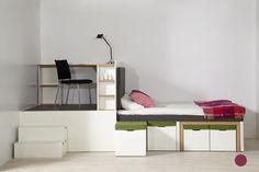 Matroshka Furniture: LIVING ROOM, DINING ROOM, BEDROOM & STUDY  - in one item of furniture, measuring 15m2: http://matroshkafurniture.com/home/index.html