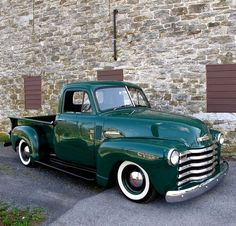 1949 Chevy. My grandfather had one of these...I thought his was a '47, but it looks exactly like this! I heard that a neighbor of the family has his truck and has restored it...I'll have to see how it looks the next time I'm up north.