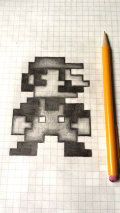 8-bit Mario Sketch via Reddit user captdoodles