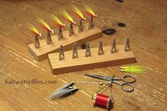 Handy drying rack and some other useful pieces for fly tying!