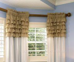 Rod pocket drapery panel from Decorating Den Int. Decor, Drapery Panels, Drapery, Curtains, Paneling, Home Decor