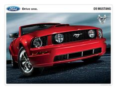 Dad wants a 2009 Ford Mustang GT convertible Ford Mustang Gt500, Mustang 2010, Ford Mustang Convertible, Ford Mustangs, Mustang Rouge, New Ford Mustang, Red Mustang, Luxury Sports Cars, Red Sports Car