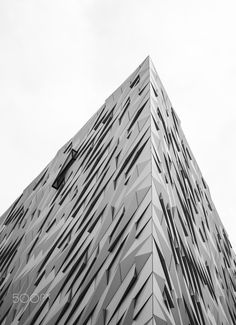 Geometric Shapes - The titanic museum in Belfast offers a really different type of building that reminds us of the great titanic boat and its tragedy.