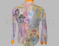 HAND PAINTED SHIRT mens shirts band shirt design painted song hip hop shirts for mens fashion artistic clothing tribute to notorious big - Modifica inserzione - Etsy