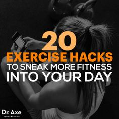 We can't always carve out time in our schedules for a full workout session, so here are exercise hacks to sneak more exercise into your day. Dr Josh Axe, Dr Axe, Fitness Tips, Fitness Motivation, Health Fitness, Fitness Facts, Burst Training, Workout Session, Fitness Activities