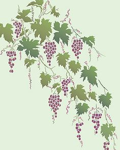 my kitchen will b done in grapes n vines..  love this stenciling maybe on one wall or the around door frames...