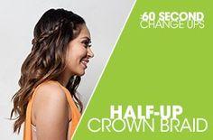 :60 Change Ups: Half-Up Crown Braid feat. Marianna Hewitt