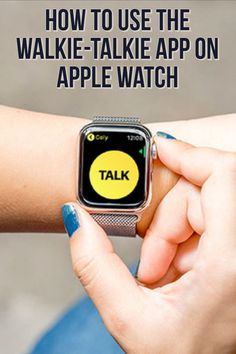 As long as you and your friend both have watchOS 5 or higher, Walkie-Talkie will work. Heres how to talk to other Apple Watch wearers. Apple Watch Hacks, Apple Watch 3, Apple Watch Iphone, Apple Watch Series 3, Apple Tv, Ipad Air 2, Cheap Apple Products, Iphone Reviews, Gps Sports Watch
