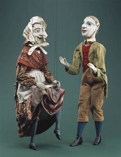 Pat and Biddy  -The Detroit Institute of Arts (DIA)  Paul McPharlin Puppetry Collection