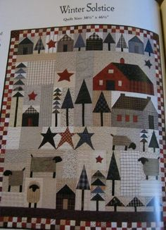 Sweet P Quilting and Creations (Paulette) started a sew~along using this darling pattern by Country Threads. Cute Quilts, Lap Quilts, Small Quilts, Mini Quilts, Quilting Projects, Quilting Designs, Quilting Ideas, Primitive Quilts, Rustic Quilts
