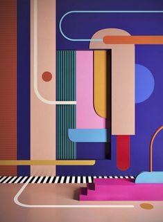memphis design 35 Best Color Harmony Design To Make Your Room More Beautiful 270 Interior Design Blogs, Interior Designing, Diy Interior, Modern Interior, Harmony Design, Color Harmony, Memphis Design, Conception Memphis, Pantone
