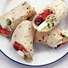 84 calories Greek Salad Wraps
