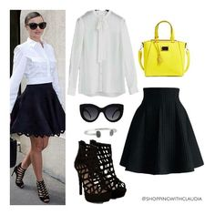 @mirandakerr business style! Find this look in:  top: express.com  skirt: chicwish.com  shoes: newlook.com  bag: nordstrom.com  sunglasses: nelly.com  bracelet: 6pm.com #shoppingwithclaudia #claudiazuleta #fashionstylist #shopping #personalshopping #celebritystyle  #streetstyle #outfit #look #styletips#amazing #love #styletipsbyclaudia #fashion #fashionable #lookoftheday #trends #winter #fashionstyle #ootd #mirandakerr