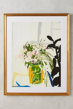 Flowers On A Table Wall Art #anthropologie