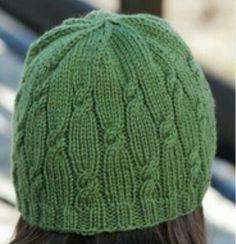 Knitting Patterns Hat Ravelry: Knotted Rib Hat pattern by Cheryl Beckerich {free} Bonnet Crochet, Gilet Crochet, Crochet Cable, Knit Or Crochet, Crochet Hats, Knitting Stitches, Knitting Patterns Free, Knit Patterns, Free Knitting
