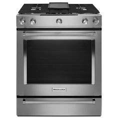 kitchenaid smooth surface 5 element self cleaning with steam slide rh pinterest es