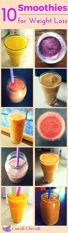 9 Fruity Smoothies as Healthy as they are Sweet | www.carobcherub.com| 9 healthy…