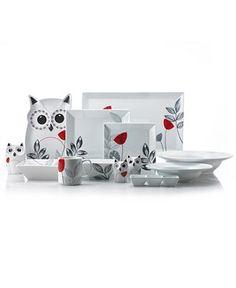 Owl dinner service