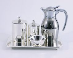 Kit higiene moderno de prata da Coisas da Doris